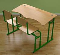 Парта монолитная со стульями без полки (Т 0222)