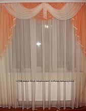 Ламбрикен персик Класика 2м з бахромою