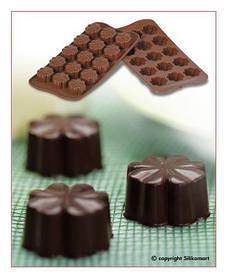 "Форма для шоколада ""Цветок"" 30*30 мм h 15,5 мм Silikomart"