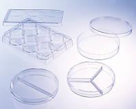 Чашка Петри диаметр 90 мм, стерильная  (с тремя вентиляциоными отверстиями, из PS), 2 секции, 20 шт