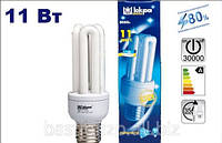 Лампа КЛЛ 11Вт/827-S/Т3-Е27. Серия: «3U» люминесцентная компактная. Искра.