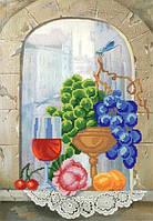 """Рисунок на ткани для вышивания бисером """"Игристое вино"""""""