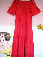 Платье женское длинное шитье хлопок