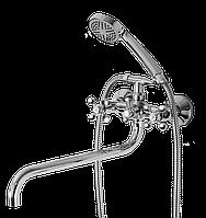 Смеситель ванная фигурный излив Florence 106 ASCO Armatura