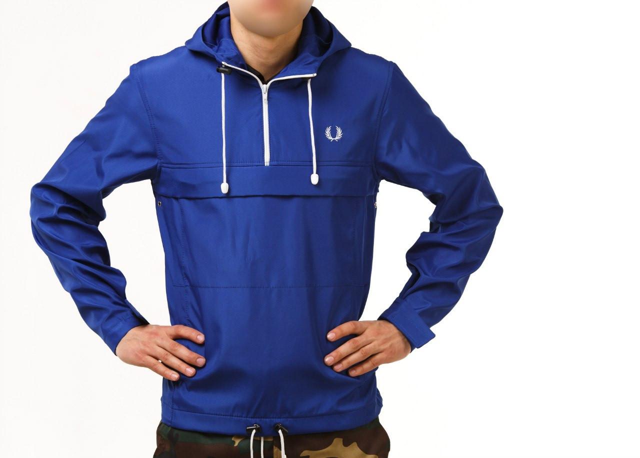 9d88da4b Мужская весенняя ветровка, анорак реплика Fred Perry синий, легкий (спортивные  ветровки) -