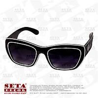 Очки солнцезащитные wayfarer, с чёрными стеклами, карнавальные