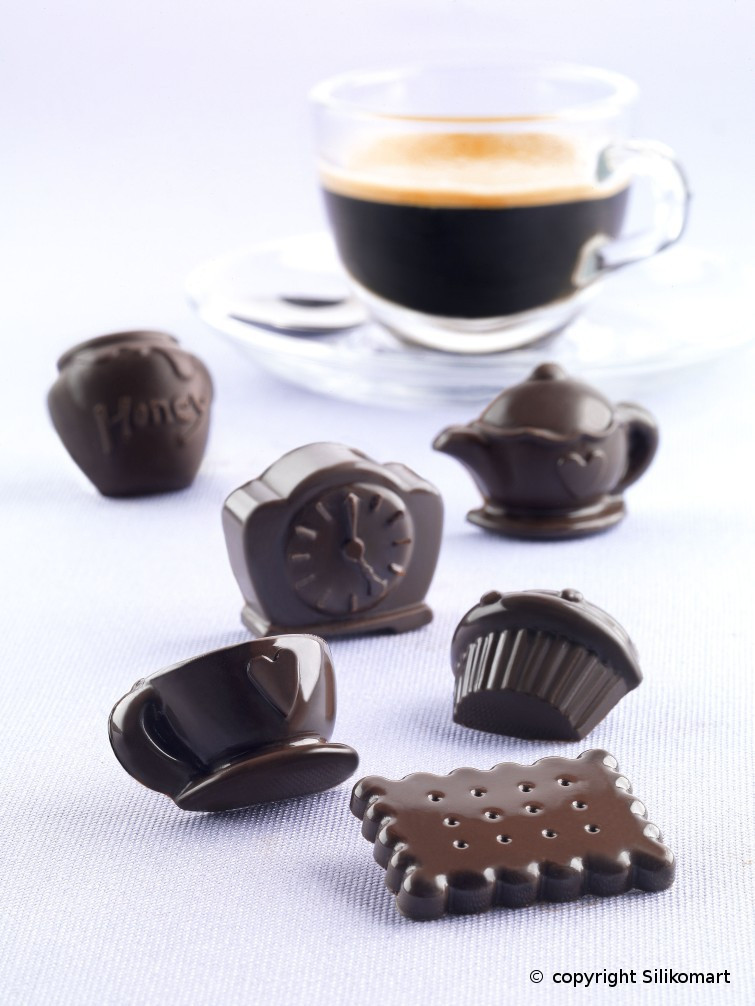 "Форма для шоколада ""Чаепитие"" 43,6*29 мм h 15 мм Silikomart"