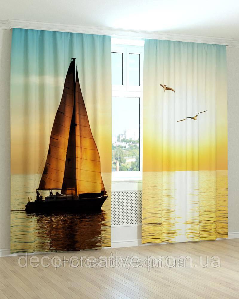 Фотошторы яхта в море