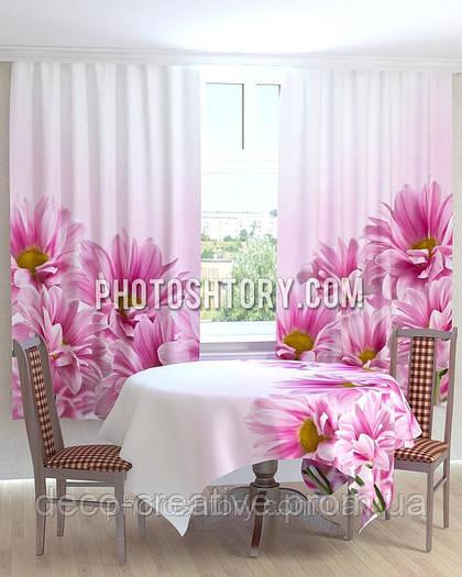 Фотошторы на кухню красивые цветы