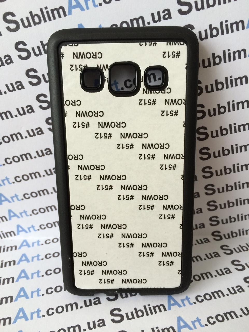 Чехол для 2D сублимации резиновый (TPU) на Samsung Galaxy A3 черный