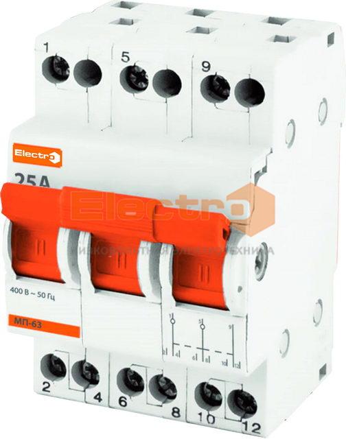 """Модульные выключатели и переключатели нагрузки ТМ """"Electro"""""""
