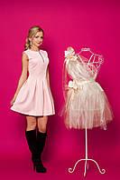 Коктейльное платье мини с пышной юбкой в складочки