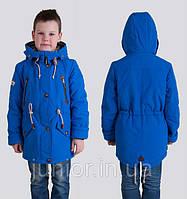 Модная весенняя куртка парка  для мальчика (дошкольник).