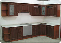 Кухня Классика каштан патина