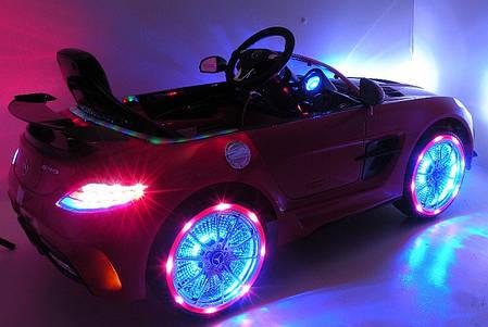 Детский Электромобиль Mercedes M 2760 EBRS-3 красный, автопокраска, колеса EVA, ручка для транспортировки, фото 2