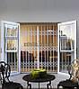 Решетки раздвижные на двери Шир.2300*Выс2170мм для коттеджей