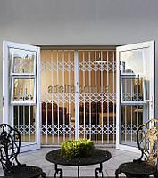 Решетки раздвижные на двери Шир.2300*Выс2170мм для коттеджей, фото 1