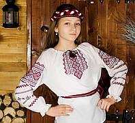 Вышиванка для девочки с ярким узором, фото 1