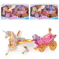 Карета с лошадкой и куклой Jinni 83153