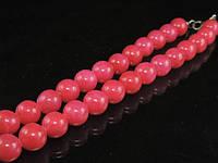 Бусы из малинового агата, шар (12мм)