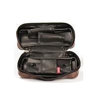 Сумка для 2 трубок 5558002 экокожа, темно-коричневый, карман для табака