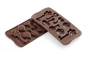 """Форма для шоколада """"Ключики"""" 34*84 мм h 14 мм Silikomart"""