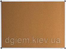 Доска пробковая 90х120см алюминиевая рамка