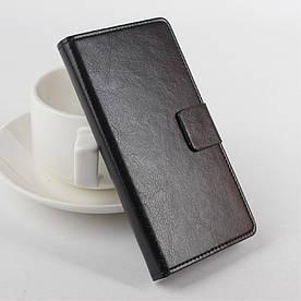 Чехол книжка для Lenovo A5000 боковой с отсеком для визиток