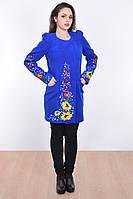 Изысканное пальто светло- синего цвета