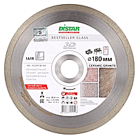 Алмазный отрезной круг Distar 1A1R 180x1,5x8,5x25,4 Bestseller Ceramic granite