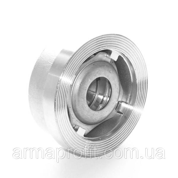 Клапан обратный нержавеющий межфланцевый подпружиненный AISI304 Ду15 Ру25