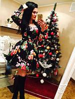 """Женское платье """"Skirt"""" черное ММ-36"""