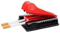 Машинка для набивки сигарет 03153 Shark, двойная, красный, пластик