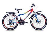 Подростковый горный велосипед Premier Dragon 24 Disc 13 2016 (Сине-красный, черно-белый) (ЦБ0000343)