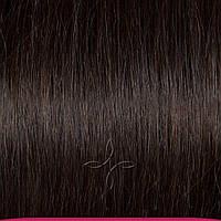 Натуральные азиатские волосы на трессе 50 см 100 грамм, Черный №01C