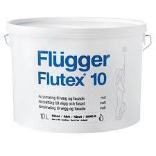 Краска Flügger Flutex 10 / Флюгер Флютекс 10 матовая, акриловая краска