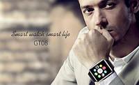 Умные часы Smart Watch GT08  часы -телефон, шагомер, GSM, камера, плеер, Bluetooth