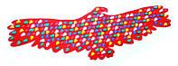 Коврик-дорожка массажный Птица 148х50