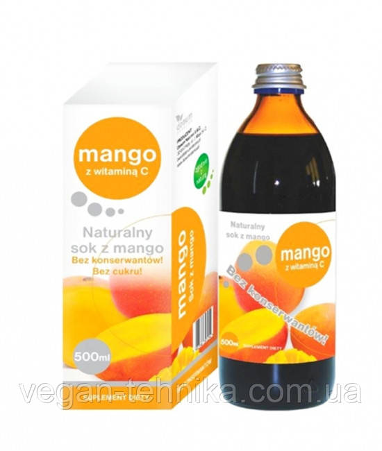 Сок манго натуральный, 500 мл