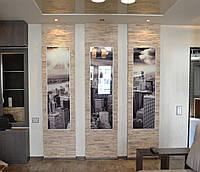 Декоративная отделка стен стеклянными фасадами