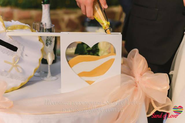 Рамка в форме сердца, фото наших молодоженов набор №16
