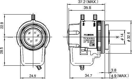 Объектив FUJINON YV2.7x2.9LR4D-SA2(L), фото 2