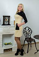 Платье с карманами беж, фото 1