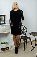 Платье с карманами черное