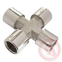 "Крестовое соединение с внутренней резьбой 1/4"" INTERTOOL"