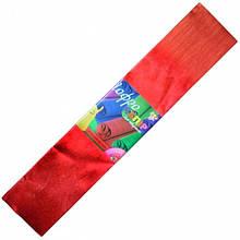 Гофрированная бумага (гофробумага) металлизированная красная