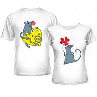 Парные футболки для влюбленных с забавными Мышками