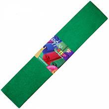Гофрированная бумага (гофробумага) металлизированная зеленая