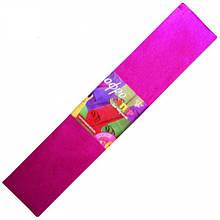 Гофрированная бумага (гофробумага) металлизированная розовая