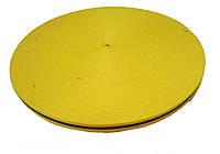 Тесьма 10мм/50м черная полоса на желтом